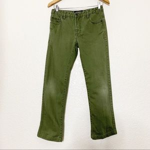 Lucky Brand Billy Straight Olive Green Jeans